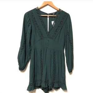 American Eagle Outfitters Lace Detail Romper